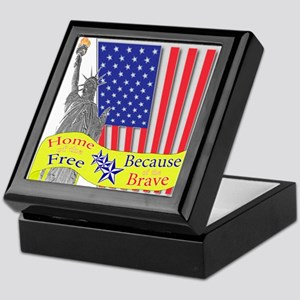 Home of the Free Because of t Keepsake Box