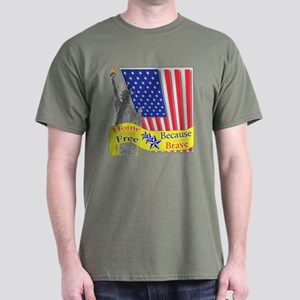 Home of the Free Because of t Dark T-Shirt