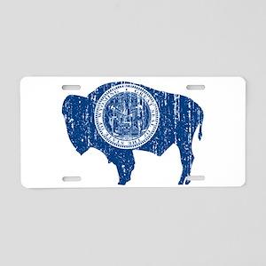 Vintage Wyoming Aluminum License Plate