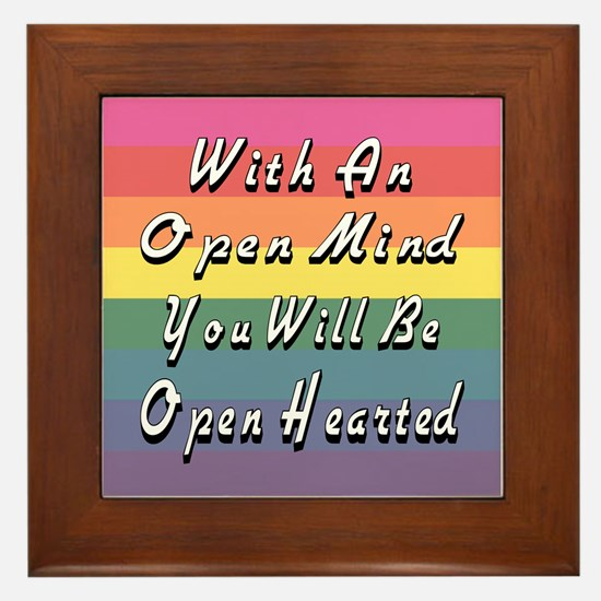 Open Mind Open Hearted Framed Tile