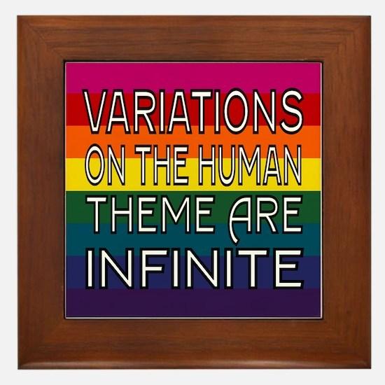 Variations On Humanness Framed Tile