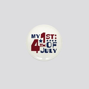 My 1st 4th of July Mini Button
