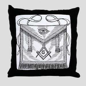 Masonic Apron Throw Pillow