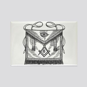 Masonic Apron Rectangle Magnet