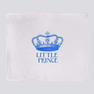 little prince (blue) Throw Blanket