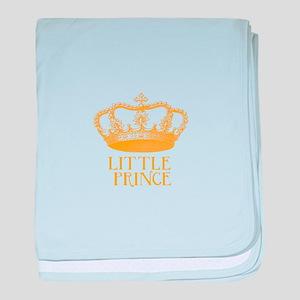little prince (orange) baby blanket