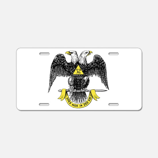 32nd Degree Aluminum License Plate