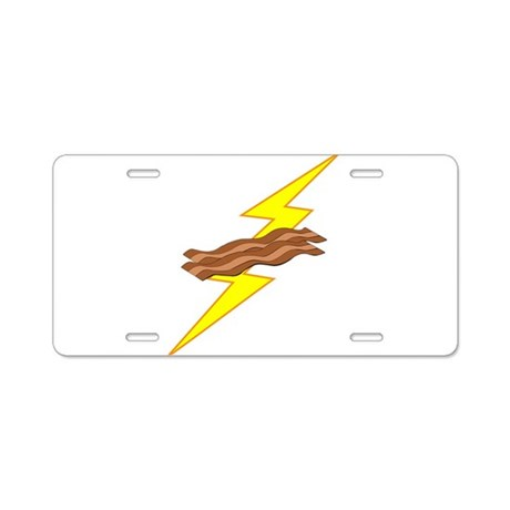 Bacon Storm Aluminum License Plate