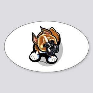Funny Boxer Sticker (Oval)