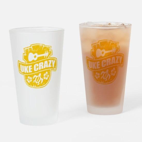 Uke Crazy Pint Glass