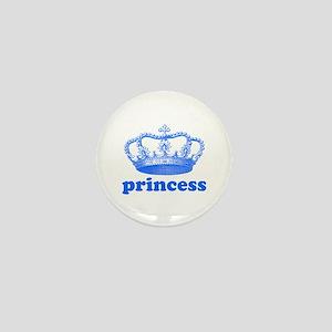 princess (blue) Mini Button