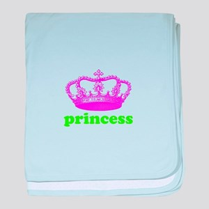 princess (pink/green) baby blanket