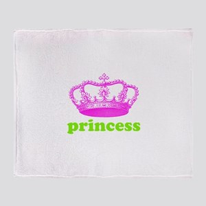 princess (pink/green) Throw Blanket