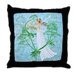 Fairy Music Throw Pillow