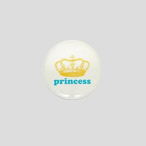 princess (yellow/blue) Mini Button