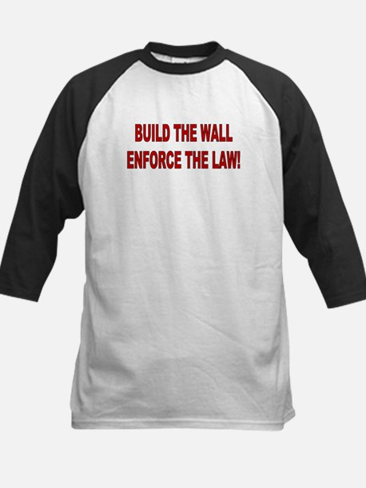 Build The Wall Kids Baseball Jersey