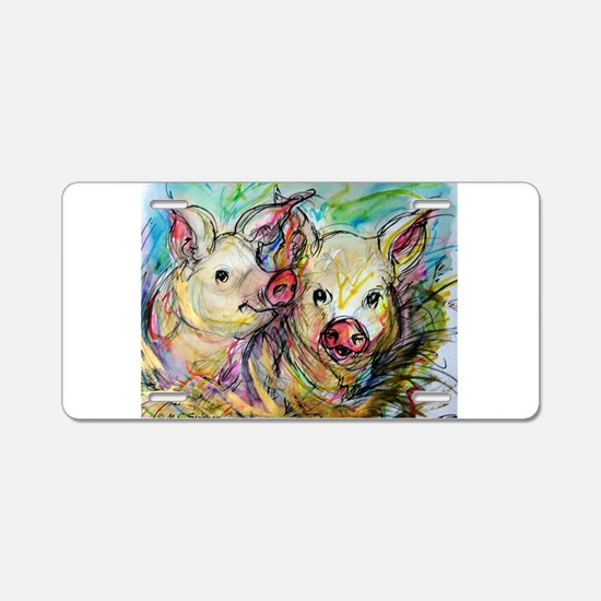 Pig, Pair Aluminum License Plate