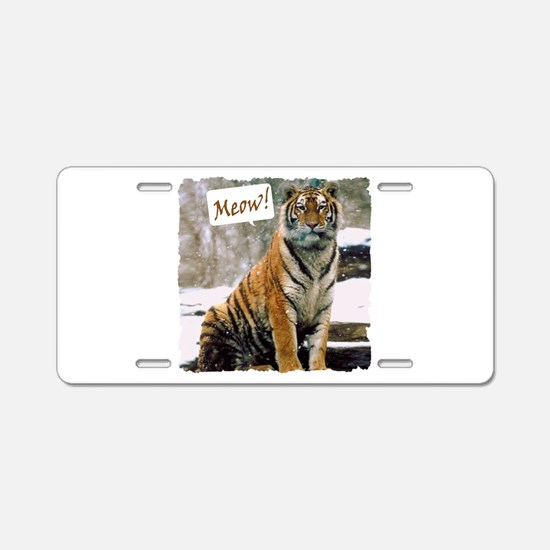 Tiger Meow Aluminum License Plate