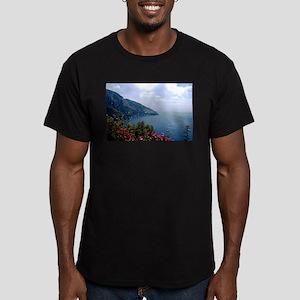 Amalfi Coast, Italy Men's Fitted T-Shirt (dark)