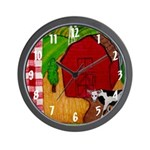 Farm Quilt Wall Clock