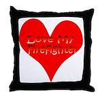 Love My Firefighter Throw Pillow