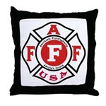 AAFF Firefighter Throw Pillow