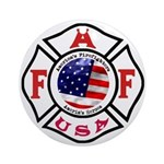 AAFF Firefighter Ornament (Round)