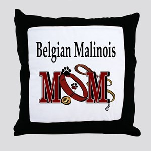 Belgian Malinois Mom Throw Pillow