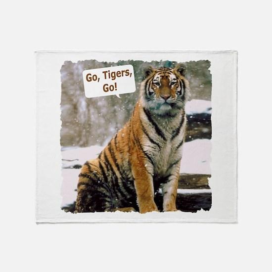 Go Tigers, Go! Throw Blanket
