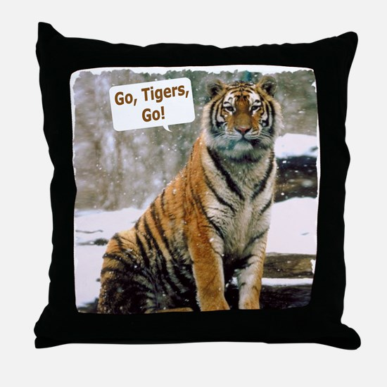 Go Tigers, Go! Throw Pillow