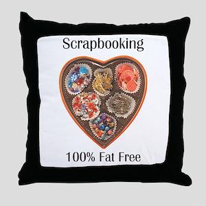 scrapbooking 100% Fat Free Throw Pillow