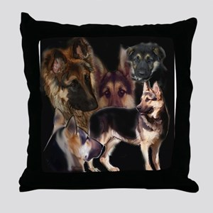 GSD collage Throw Pillow