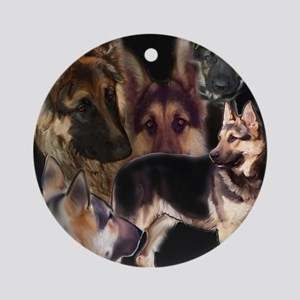 GSD collage Ornament (Round)