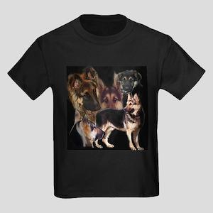 GSD collage Kids Dark T-Shirt