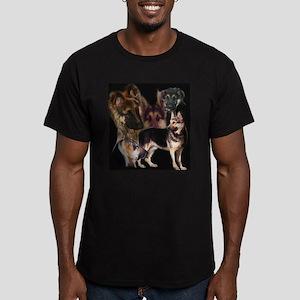 GSD collage Men's Fitted T-Shirt (dark)