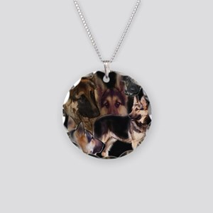 GSD collage Necklace Circle Charm