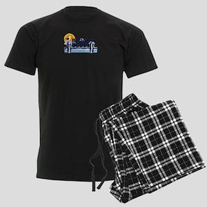 Bethany Beach DE - Pier Design. Men's Dark Pajamas