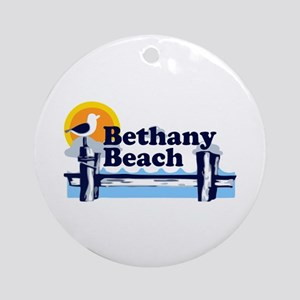 Bethany Beach DE - Pier Design. Ornament (Round)