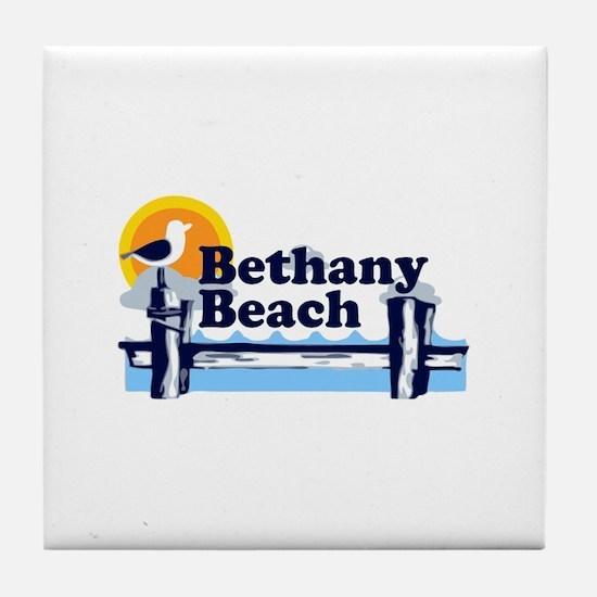 Bethany Beach DE - Pier Design. Tile Coaster