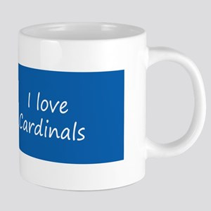 Cardinals on the Fence 20 oz Ceramic Mega Mug