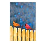 Cardinals on the Fence Postcards (Package of 8)