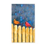 Cardinals on the Fence 20x12 Wall Decal