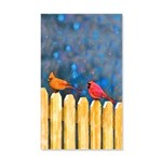 Cardinals on the Fence 35x21 Wall Decal