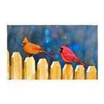 Cardinals on the Fence Area Rug