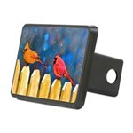 Cardinals on the Fence Rectangular Hitch Cover