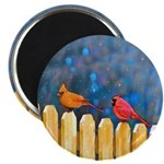 Cardinals on the Fence Magnet