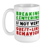 Illegals Breaking & Entering Large Mug