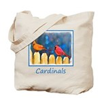 Cardinals on the Fence Tote Bag