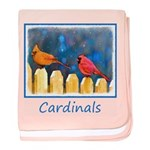 Cardinals on the Fence baby blanket