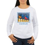 Cardinals on the Fence Women's Long Sleeve T-Shirt